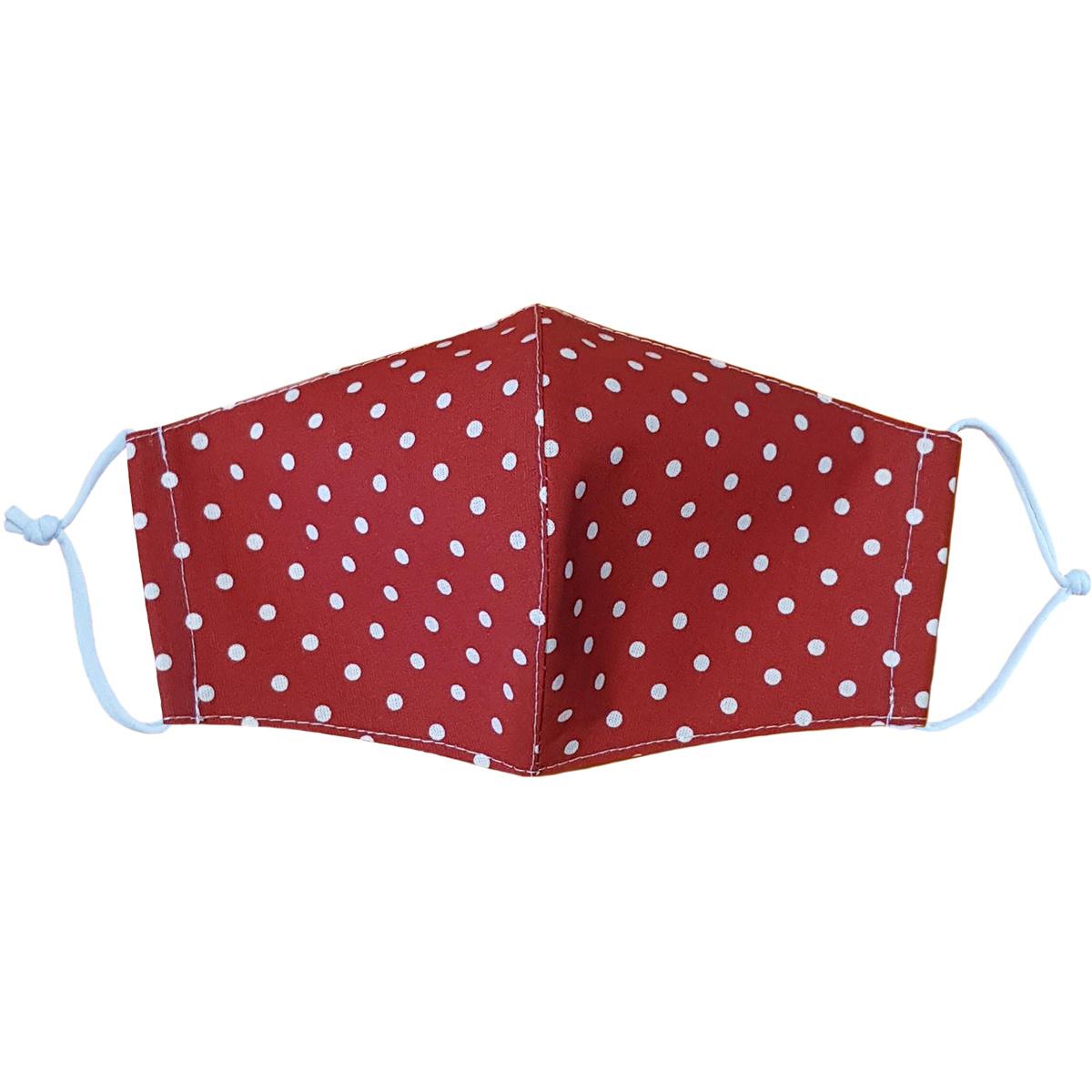 Ústne bavlnené rúško Bodka červená medium