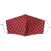 Bawełniana maseczka ochronna Kropka odcienie czerwieni medium