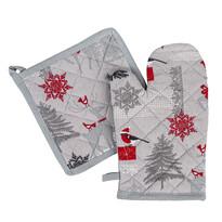 Vianočná sada chňapka a podložka Winter Forest