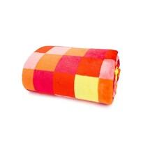 Domarex XXL Lorgia Kocka takaró/ágytakaró, piros, 200 x 220 cm