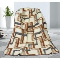 Vlnená deka Geometria, 155 x 200 cm