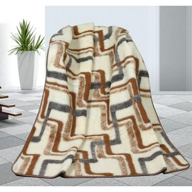 Vlněná deka Geometrie, 155 x 200 cm