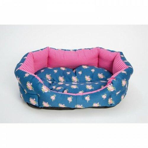 Kutyafekhely 8 élű Růženka kék-rózsaszín, 45 cm