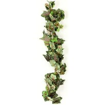 Umělé vinné listy zeleno-šedá, 170 cm