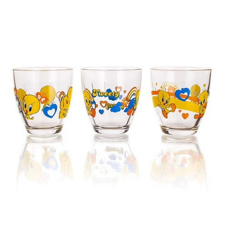 Tweety Sklenice Aqua 3 ks 210 ml