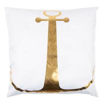 Polštářek Gold De Lux Kotva bílá, 43 x 43 cm