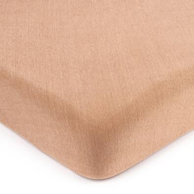 Cearșaf de pat 4Home jersey maro deschis, 180 x 200 cm