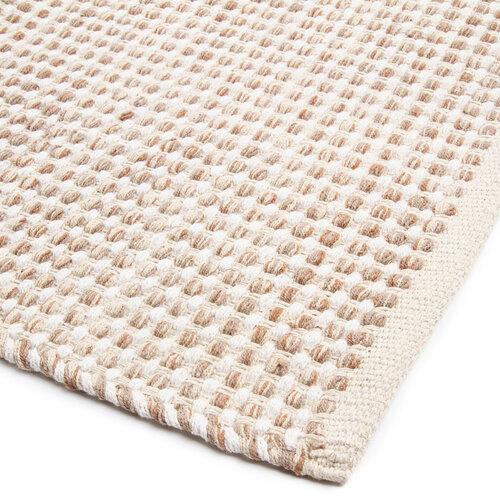 Kusový bavlnený koberec Elsa béžová, 60 x 110 cm