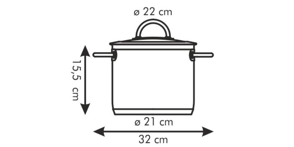 Tescoma VISION hrnec s poklicí 5,5 l