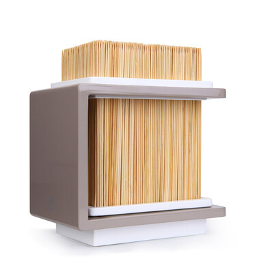 Bambusový stojan na nože Fakir 17 x 20 cm, tmavě šedý