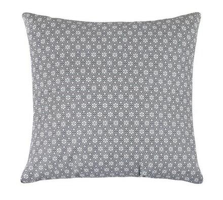 Polštářek Rita, šedá kruhová kytička, 40 x 40 cm