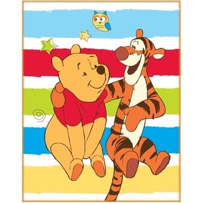 Dětská deka Medvídek Pú Happiness, 110 x 140 cm
