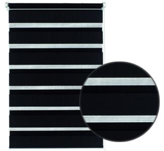 Roleta easyfix dvojitá černá, 60 x 150 cm