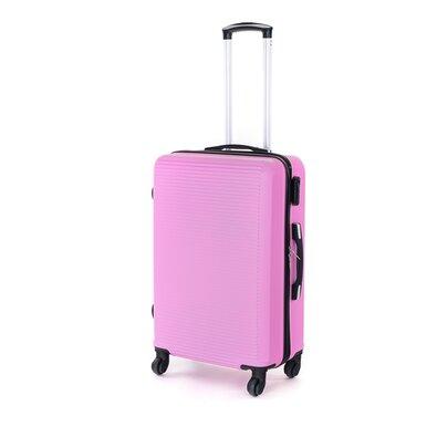 Pretty UP Cestovný škrupinový kufor ABS03 M, ružová