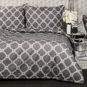 Bavlnené obliečky Castle sivá, 140 x 200 cm, 70 x 90 cm
