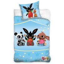 Detské bavlnené obliečky do postieľky Zajačik Bing Hudobná školička, 100 x 135 cm, 40 x 60 cm