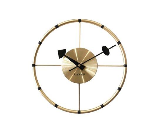 Nástěnné hodiny Lavvu Compass LCT1101 zlatá, pr. 31 cm