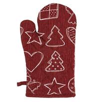 Angyalka karácsonyi edényfogó, piros, 18 x 28 cm
