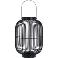 Kovový lampáš Oleiro, čierna