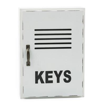 Skříňka na klíče bílá