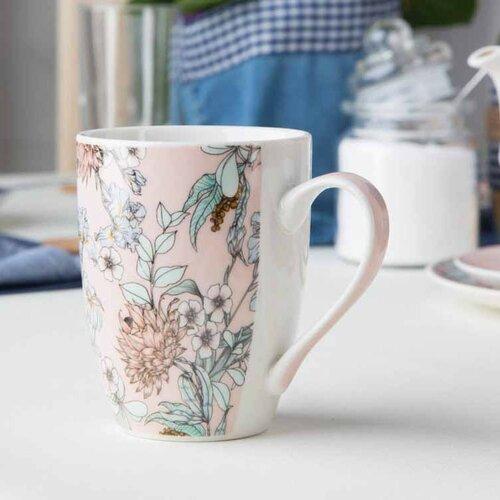 Altom Sada porcelánových hrnčekov Pink Flowers 320 ml, 4 ks