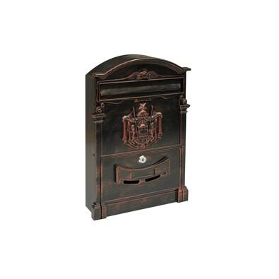 Poštovní hliníková schránka Vintage, černo-červená