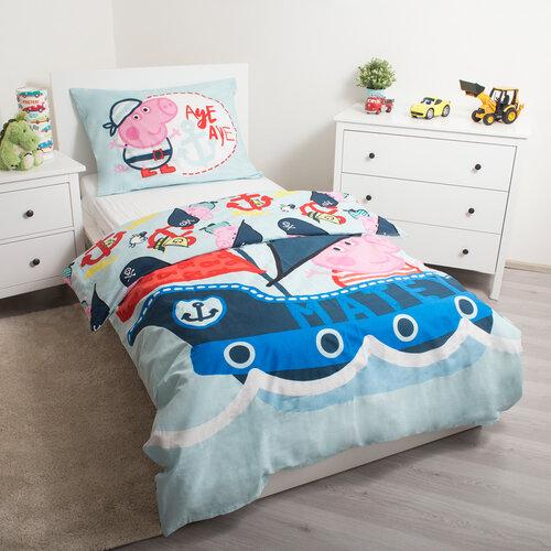 Jerry Fabrics Dětské bavlněné povlečení Peppa Pig 007, 140 x 200 cm, 70 x 90 cm