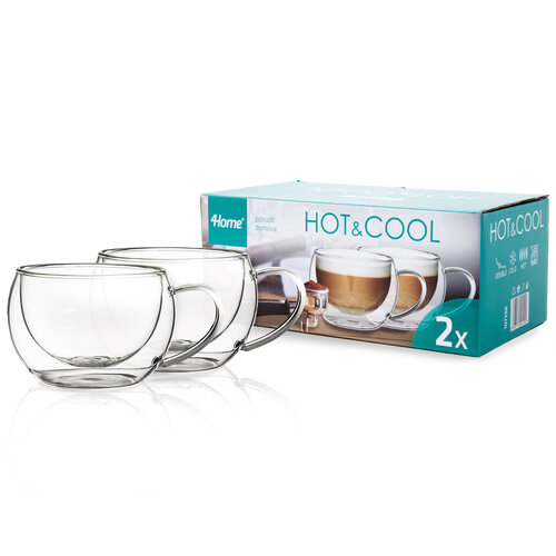 4Home Thermo cappuccino pohár Hot&Cool 280 ml, 2 db