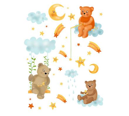 Samolepící dekorace Medvídci