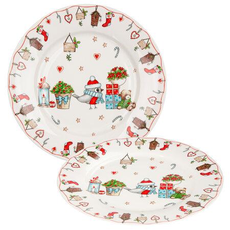 Altom Porcelánový tanier Holly Christmas 19 cm, 2 ks