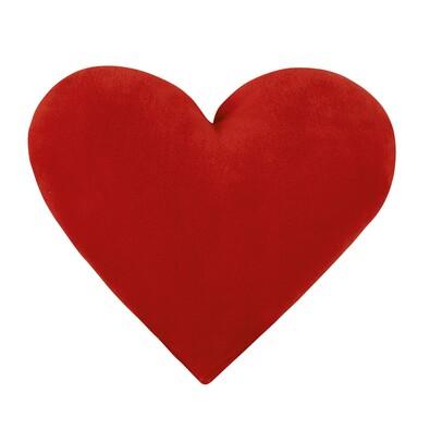 Polštářek Srdce červené, 42 x 48 cm