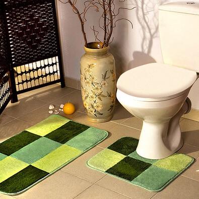 Koupelnová předložka Borneo zelená, sada 2 ks, 50 x 80 cm + 50 x 40 cm
