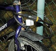 Zámek na kolo, lankový, černá, 150 cm