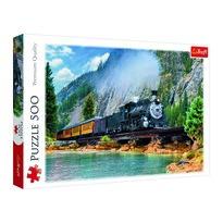 Trefl Puzzle Vlak v horách, 500 dielikov