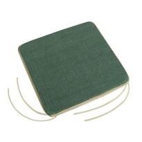 Pernă de scaun Adéla Uni verde închis, 40 x 40 cm