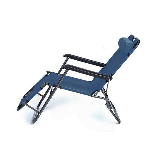ISwing Polohovacie záhradné a plážové ležadlo Comfort, modrá, 153 x 60 x 80 cm