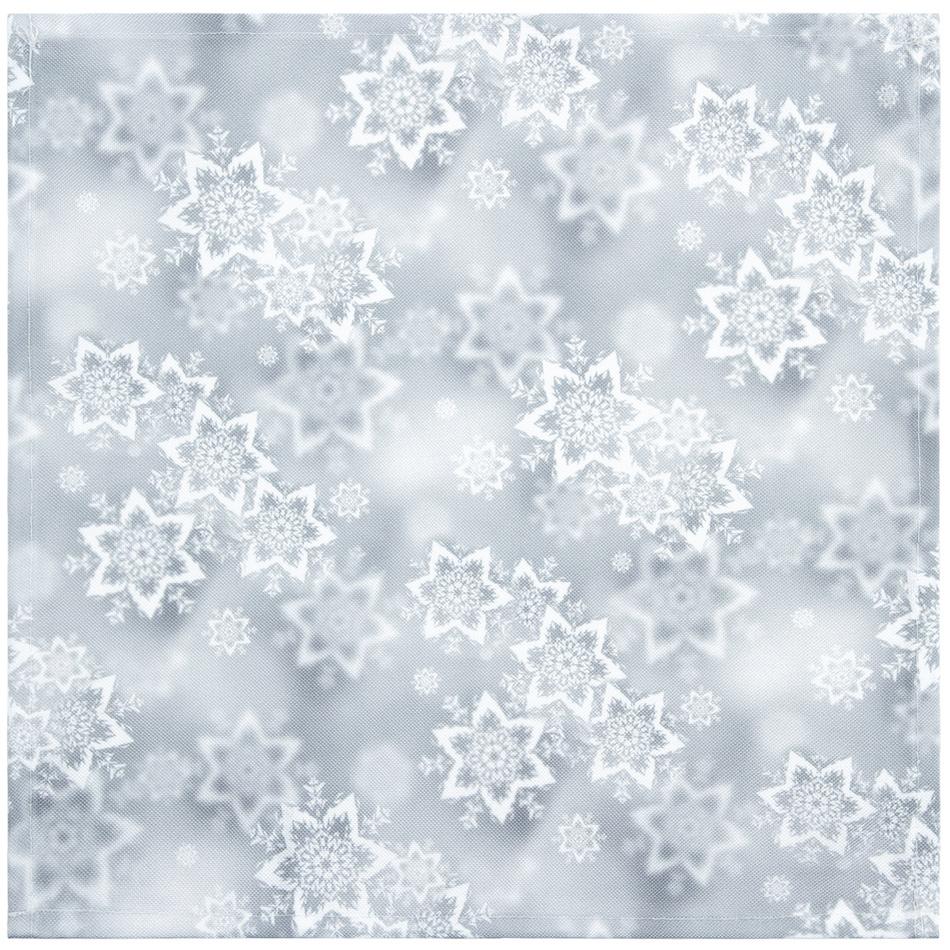 Forbyt Vánoční ubrus Hvězdy stříbrná, 35 x 35 cm