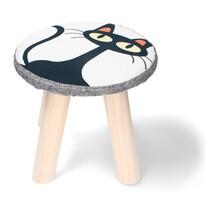 Dětská stolička Kočka, 28 x 28 x 28 cm
