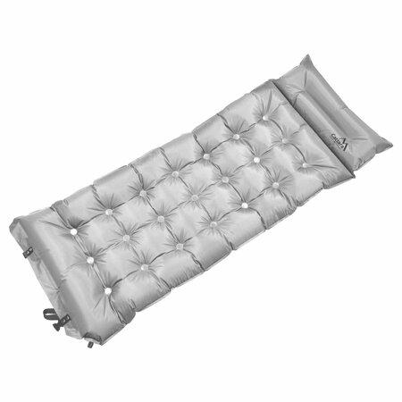 Cattara Önfelfújódó camping matrac Midnight szürke, 188 x 66 x 6 cm