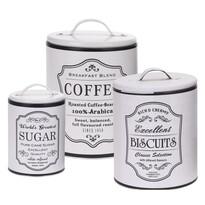Set doze Koopman, pentru cafea, biscuiți și zahăr, alb
