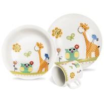 Orion 3dílná dětská jídelní sada Žirafa