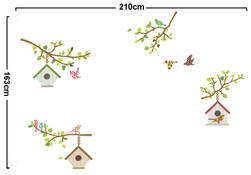 Samolepicí dekorace Ptačí budky