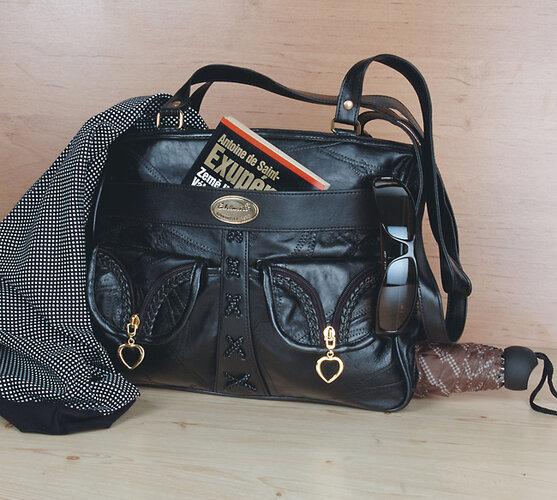 Dámská kožená kabelka béžová