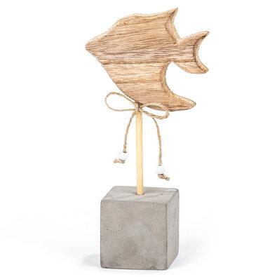 Dřevěná dekorace Big fish, 18 cm