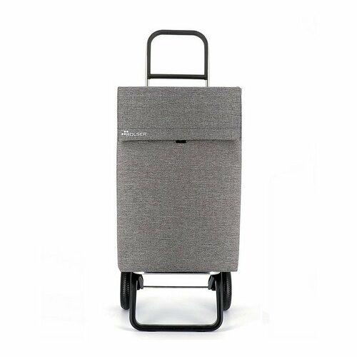 Rolser Nákupná taška na kolieskach Jean Tweed Convert RG, svetlosivá