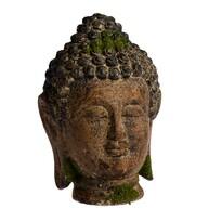 Decorațiune de grădină capul lui Buddha, 18 x 27 x 17 cm