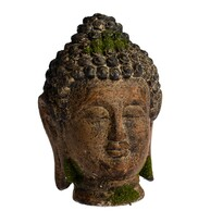 Zahradní dekorace Buddha hlava, 18 x 27 x 17 cm