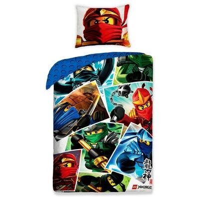 Dětské bavlněné povlečení Lego Ninjago, 140 x 200 cm, 70 x 90 cm