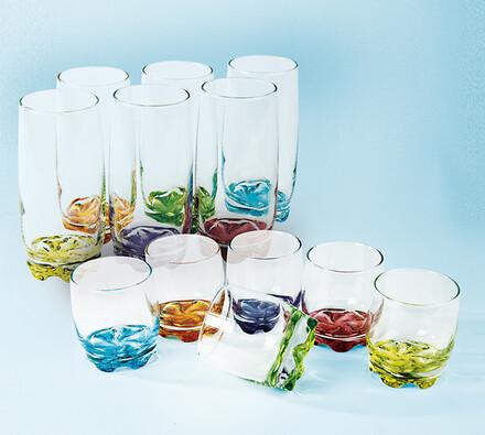 barevné sklenice