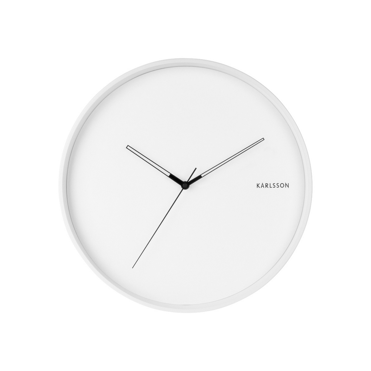 Karlsson 5807WH Designové nástěnné hodiny pr. 40 cm
